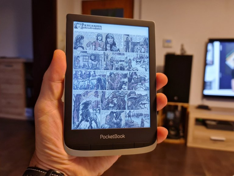 PocketBook 633 Color umí česky, přehraje i hudbu a audioknihy a rozumí si s komiksy