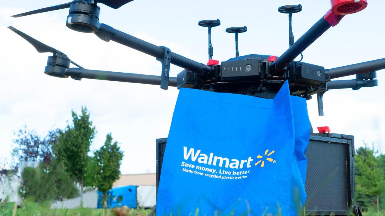 Možnost doručování nákupů pomocí dronů vzal vážně americký řetězec Walmart.
