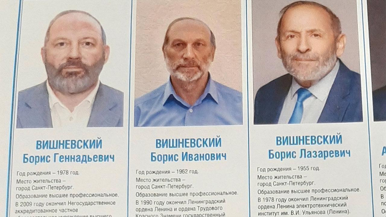 Pouze jeden je pravý Višněvskij, ten vpravo.