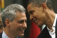 Barack Obama s kongresmanem Rahmem Emanuelem, někdejším poradcem Billa Clintona