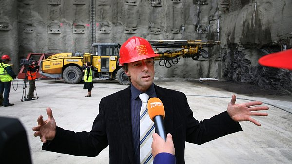 Pavel Bém a tunel Blanka (říjen 2009)
