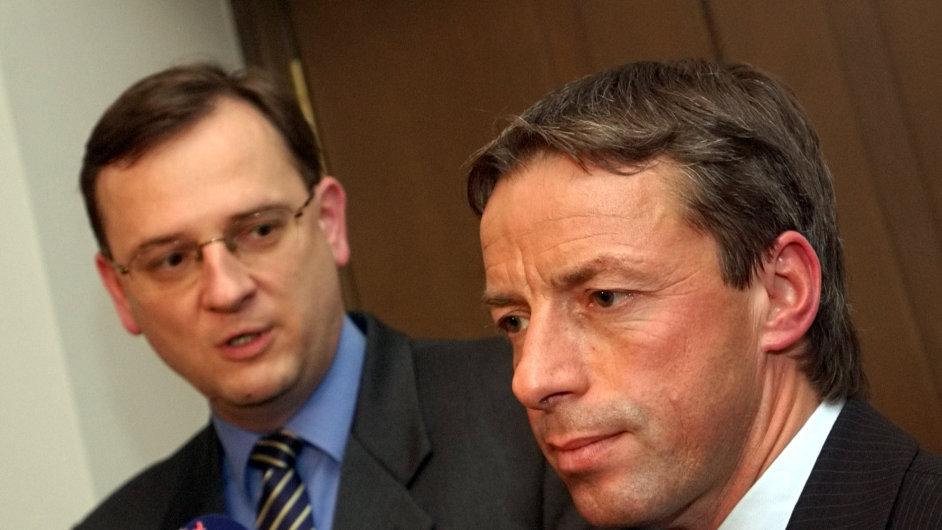 Petr Nečas (vlevo) a Pavel Bém