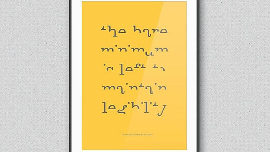 Typografická kniha Sama Barclayho o světě dyslektiků