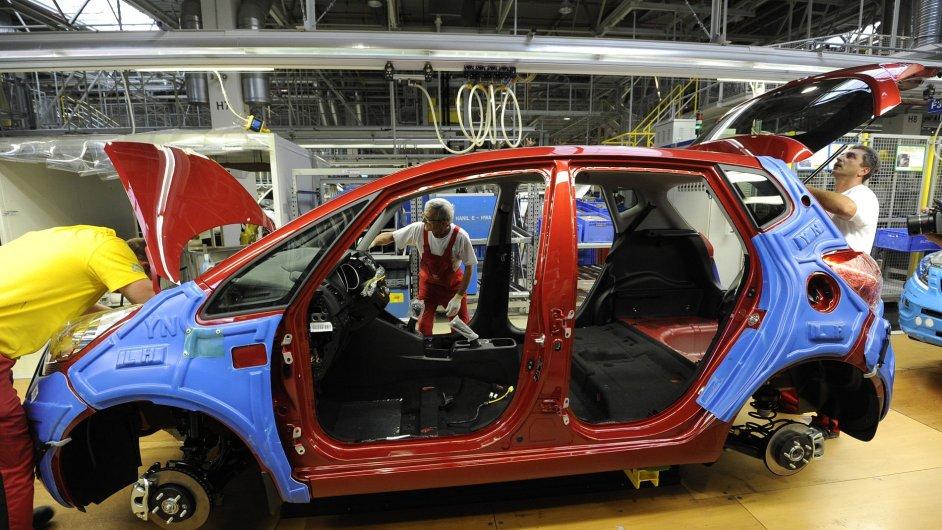 Slovenský závod Kia Motors při výrobě modelu Kia Venga.