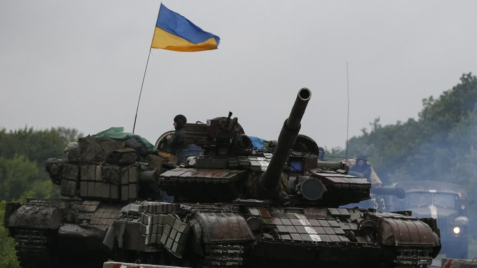 Ukrajinský tank.