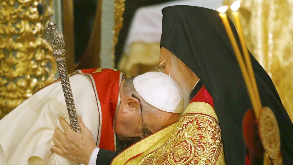 Papež František a cařihradský patriarcha Bartoloměj