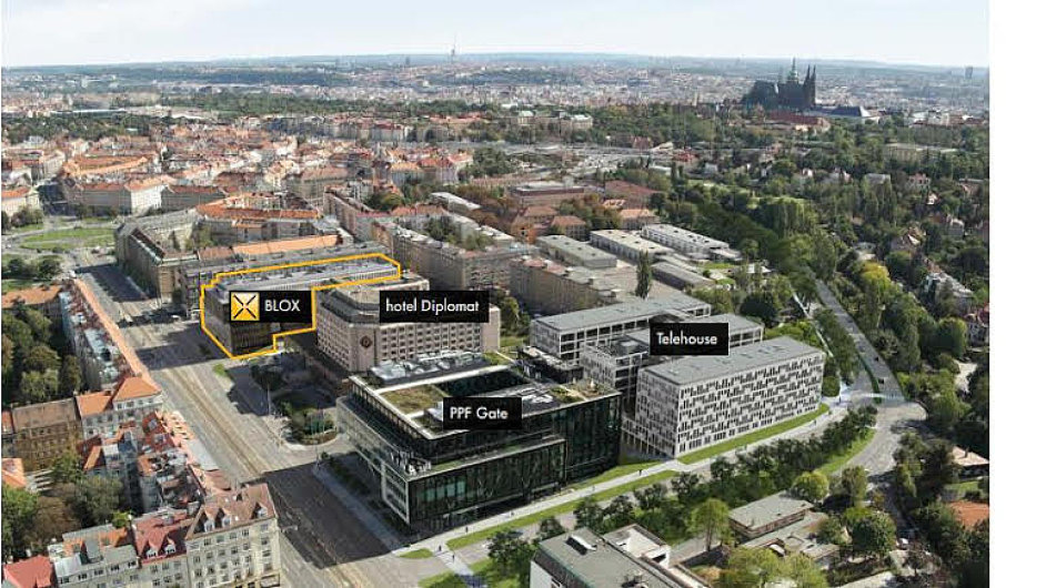 Možné budoucí sídlo Amazonu v Praze.
