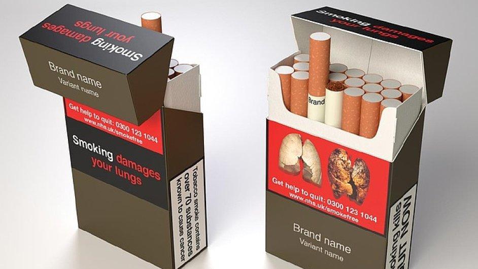Do britského parlamentu míří návrh zákona, který nařizuje jednotný design cigaretových krabiček.