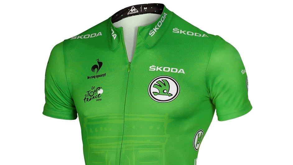 Zelený trikot s logem Škody