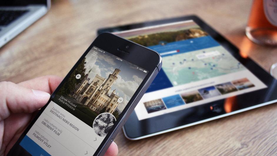 Mobilní aplikace projektu Česko – země jako z filmu