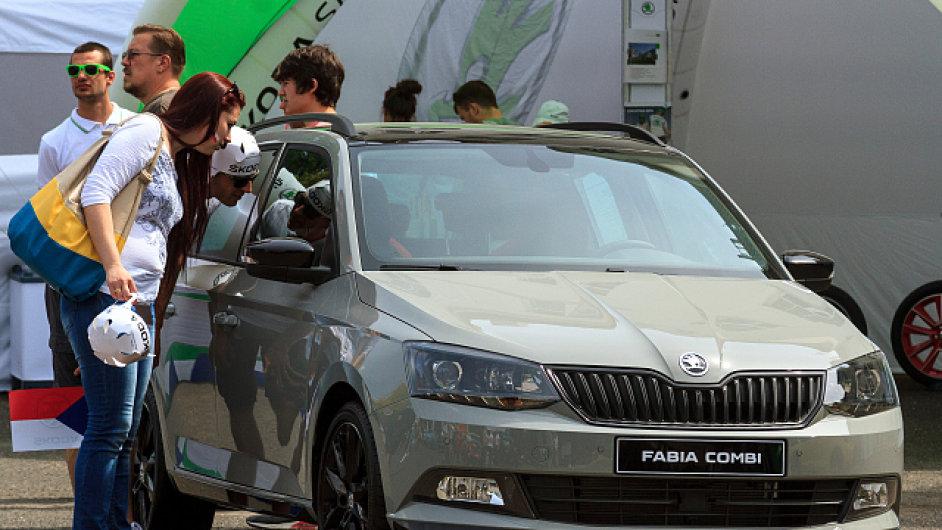 V květnu si mohli lidé v Litoměřicích prohlédnout model Škoda Fabia Monte Carlo.