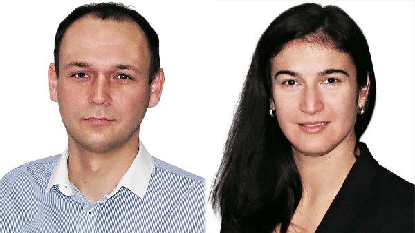 Jan Ho�ek a Martina Kubal�kov�, obchodn� t�m spole�nosti ACOMWARE