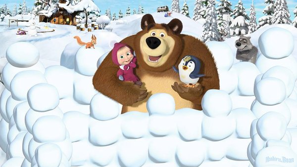 Mášu a medvěda vyrábí společnost Animaccord.