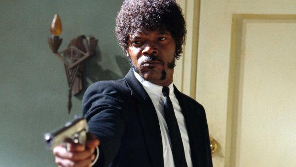 Samuel L. Jackson na snímku z Pulp Fiction, jednoho z nejslavnějších filmů Miramaxu.