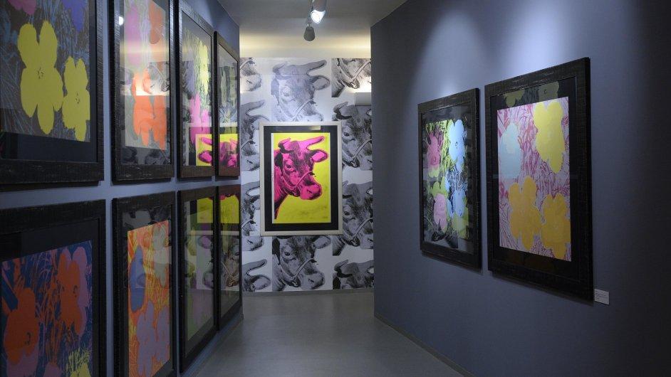 Snímek z výstavy v galerii GOAP.