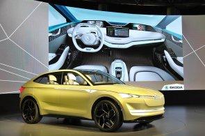 Škoda představila v Šanghaji prototyp svého historicky prvního elektromobilu Vision E