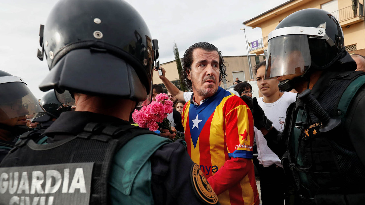 Referendum o odtržení Katalánska od Španělska skončilo násilím.