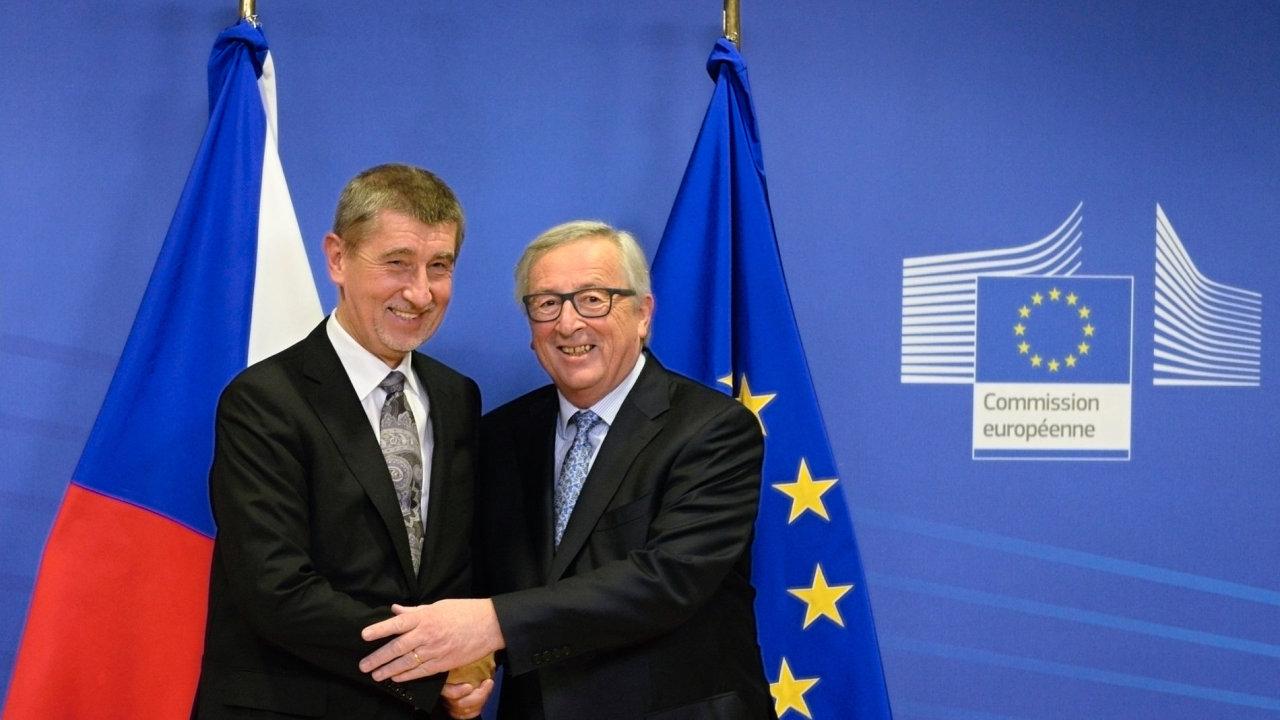 Andej Babiš a Jean-Claude Juncker.
