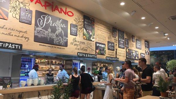 Vapiano patří mezi 31 značek, které zde loni otevřely své kamenné pobočky.