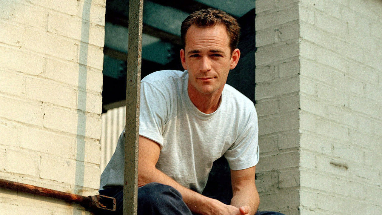 Actor Luke Perry poses during an interview in New York