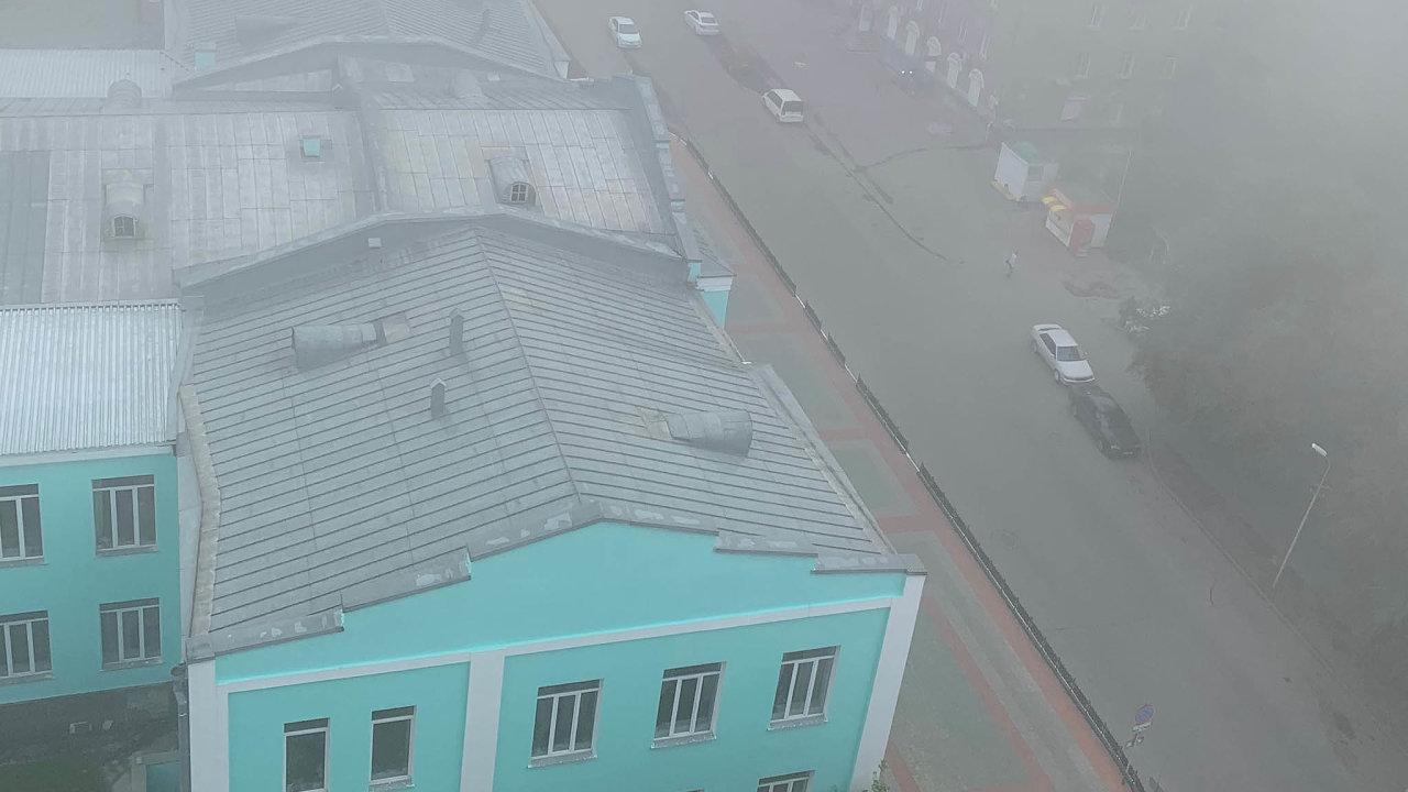 Novosibirsk v mlze