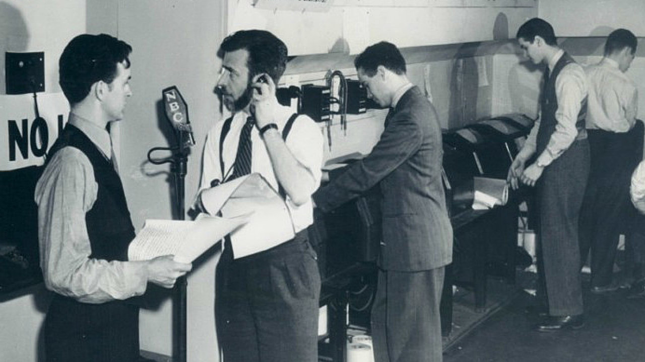 Newsroom NBC Radio, rok 1941.