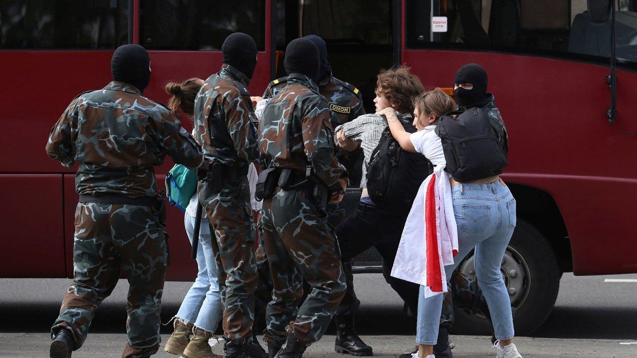 Bělorusko, studenti, prostest