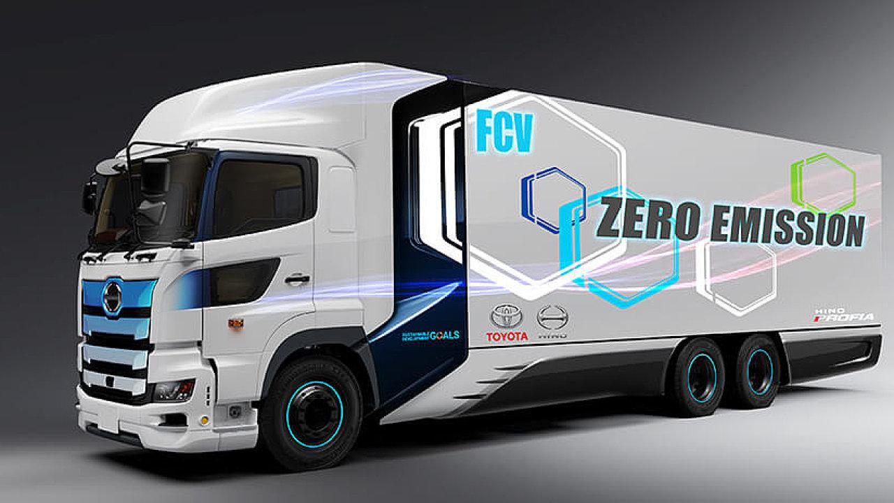 Nákladní vozidlo na vodíkové články.