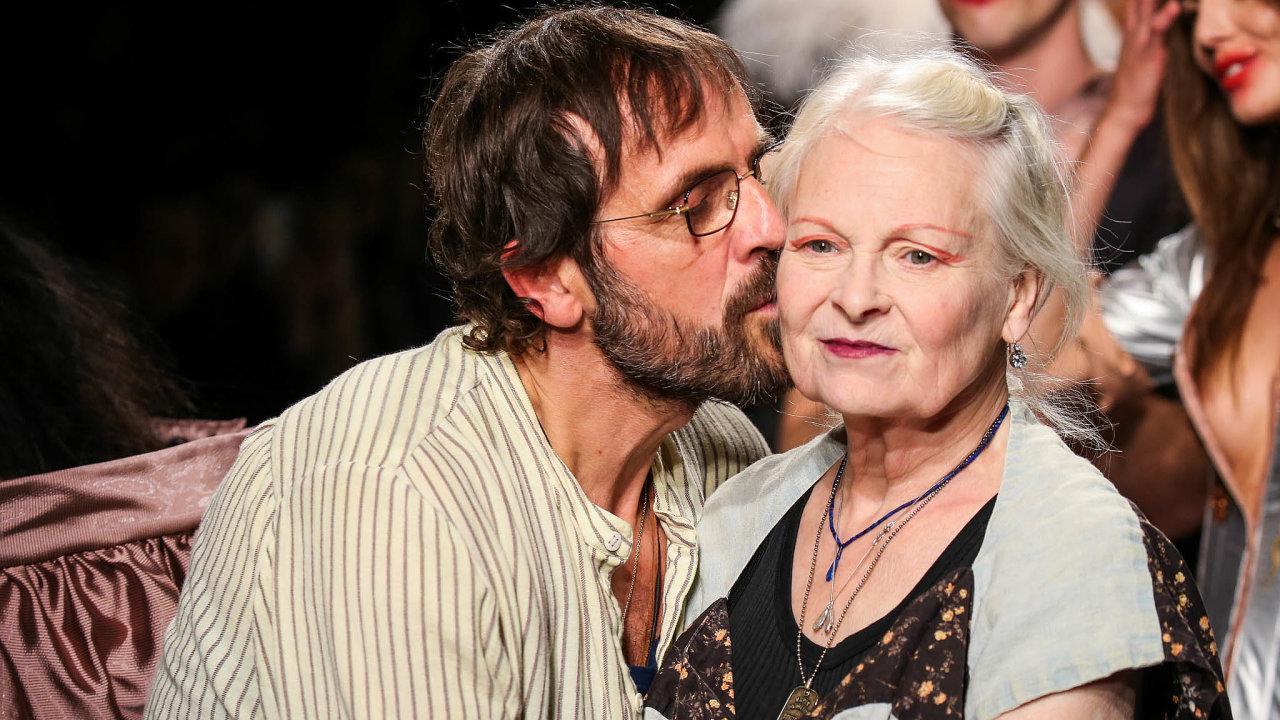 Módní návrhářka a aktivistka Vivienne Westwoodová.