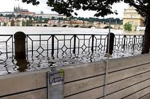 Flood defences protecting the banks of the Vltava