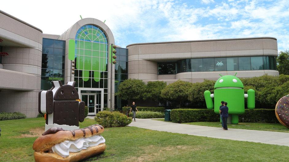 Budova 44 v centrále Googlu, zde sídlí vývoj systému Android
