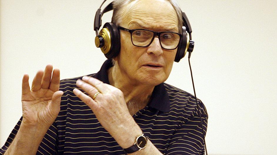 Ennio Morricone ve studiích Českého národního symfonického orchestru, 19. června 2012