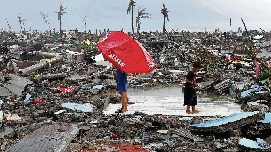 Zpustošené Filipíny
