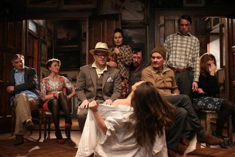 Představení Racek v Dejvickém divadle.
