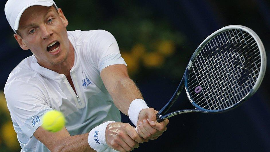 Tomáš Berdych ve vítězném semifinále proti Kohlschreiberovi