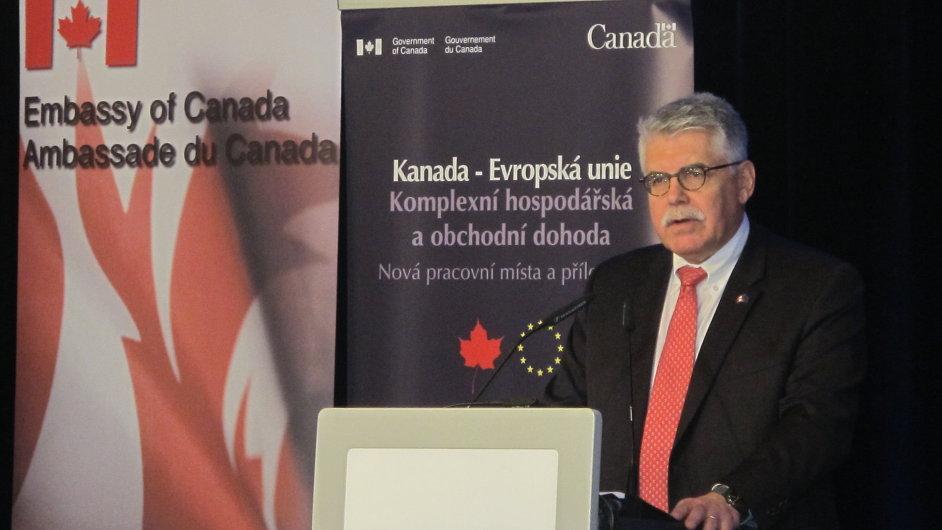 Velvyslanec Kanady u EU David Plunkett