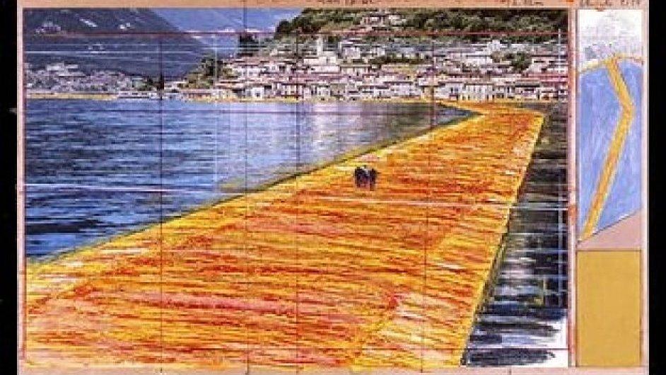 Náčrt Christovy lávky v Itálii.