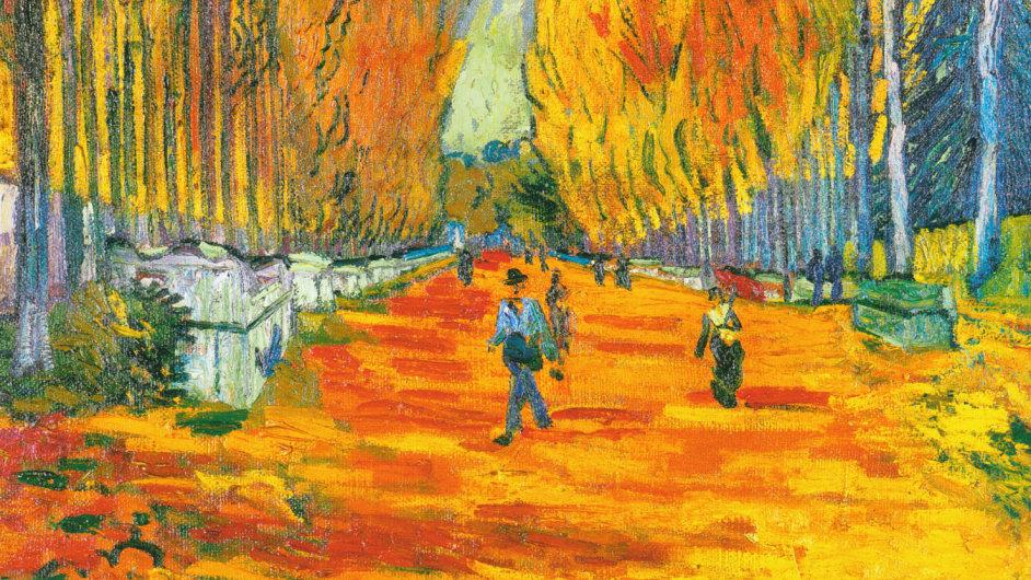 Vincent Van Gogh: L'Allée des Alyscamps, 1888