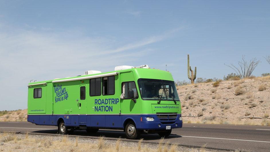 Zelený karavan projektu Roadtrip Nation