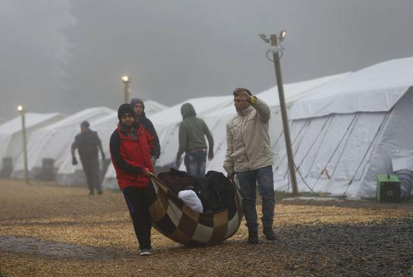 Uprchlíci ve Schwrzenbornu.