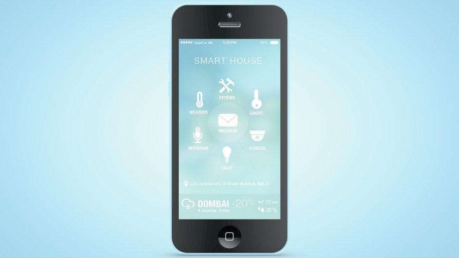 Aplikace pro ovládání chytrého domu – ilustrace