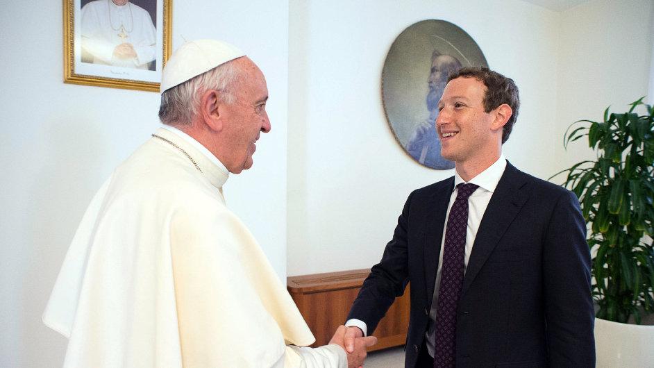 vatikán, Papež František,  Mark Zuckerberg, Facebook, sociální sítě