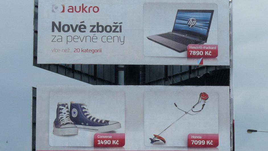 Ilustrační foto - Reklama na aukční server Aukro
