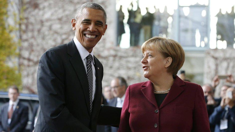 Obama, Merkelová