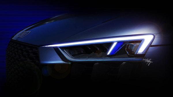 """Nové možnosti: Použití diod nebo laserové technologie umožňuje designérům si více """"hrát"""" stvary světlometů, atím isdesignem vozu. Nasnímku skica kAudi R8."""