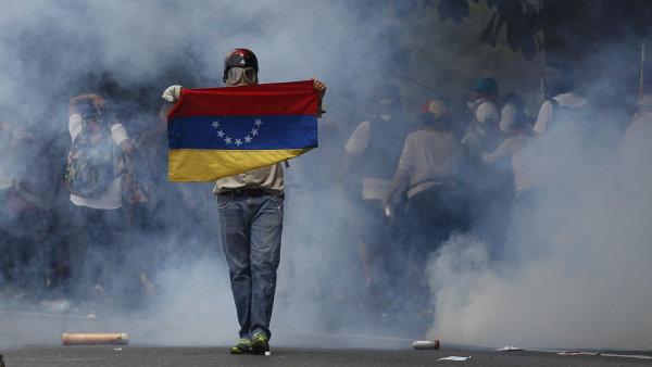 Protesty ve Venezuele.