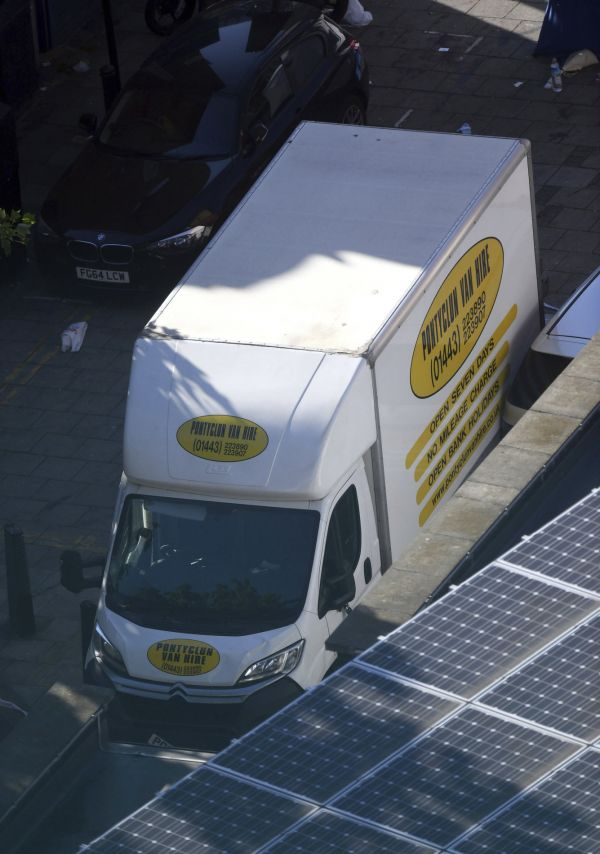 A van in Finsbury Park