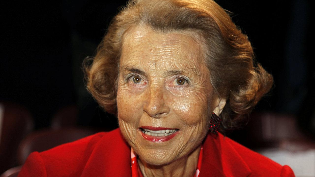 Podnikatelka a dědička kosmetické společnosti L'Oréal Liliane Bettencourtová.