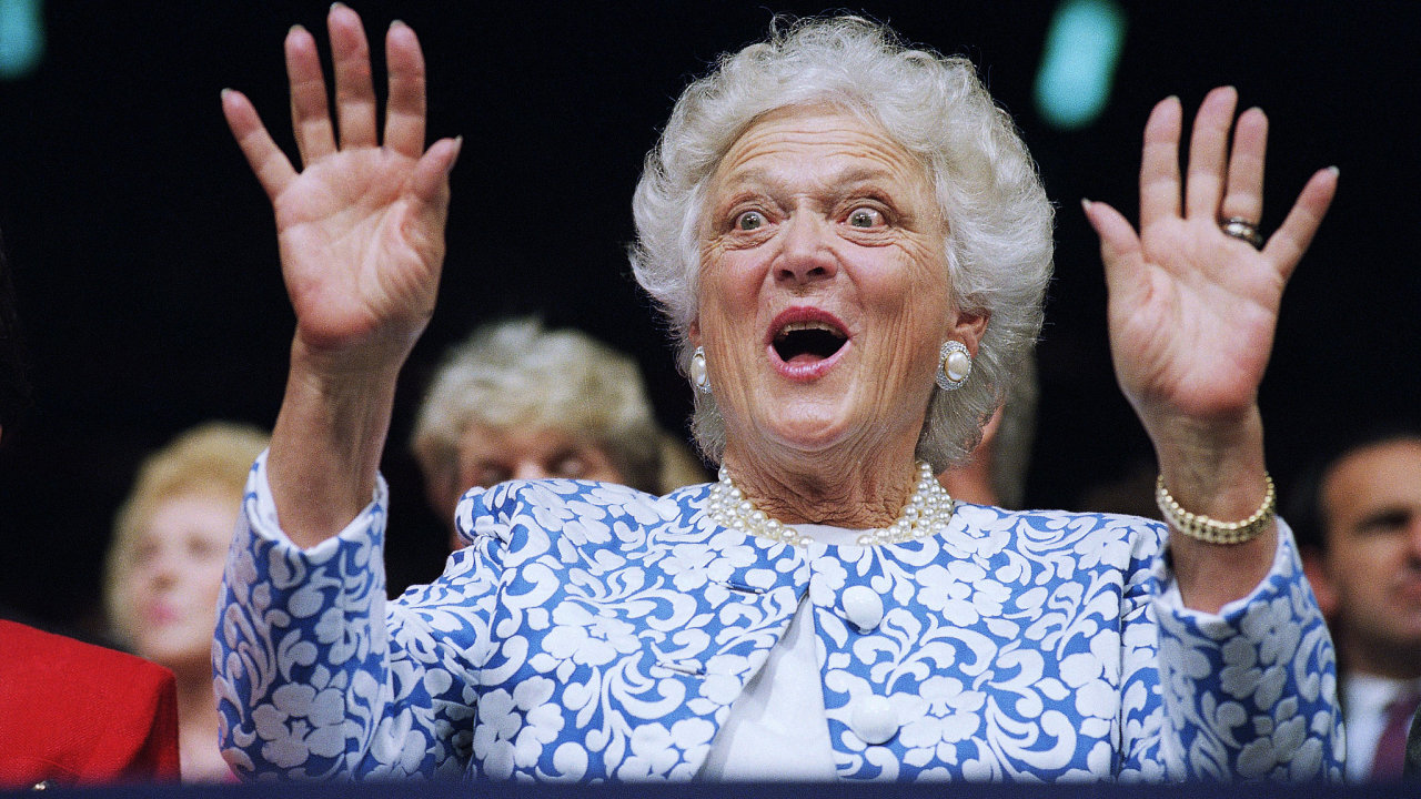 Bývalá americká první dáma Barbara Bushová.