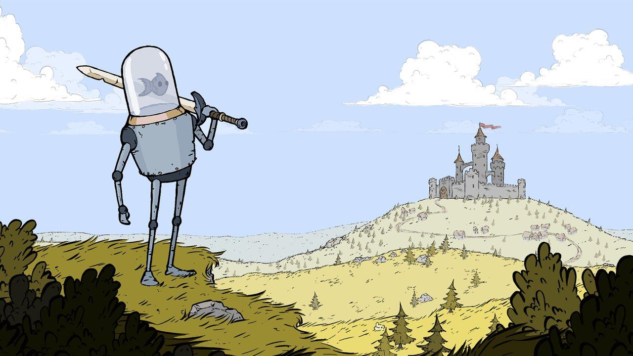 Nová česká hra nechává rybu (a hráče) ovládat robota s velkým mečem.